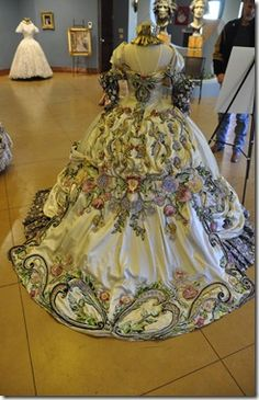 18th Century period Ball Gowns designed by Linda Leyendocker Gutierrez and Niti Volpe for the Society of Martha Washington Colonial Pageant and Ball in Laredo, Texas