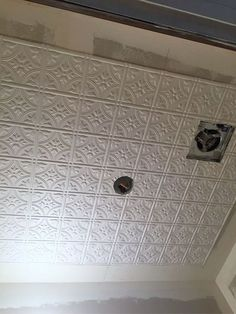Dress Up Your Ceilings With Faux Tin Ceiling Tiles Kitchen
