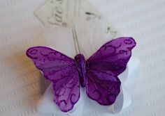 Purple Butterfly Glittery hair clip by Simply Sae's on Etsy