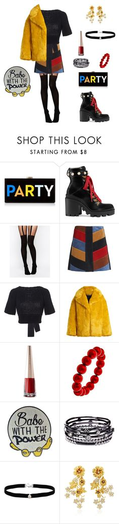 """""""Untitled #19"""" by dramainred ❤ liked on Polyvore featuring Milly, Gucci, ASOS, M.i.h Jeans, RED Valentino, Diane Von Furstenberg, ABS by Allen Schwartz, Amanda Rose Collection and Jennifer Behr"""