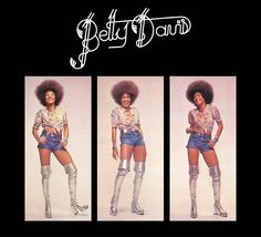 "Betty Davis sultry gravelly-voiced rock star known as the ""Nasty Gal"" of funk is our #wcw for the day! This 1972 album cover is SO #joyful #carefree #sexy & #fun!   #love #happy #woman #smiling #naturalhair #afro"