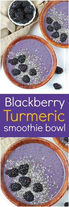 Newest Free Blackberry Turmeric Smoothie Bowl [Vegan / Paleo] - Katalyst Health . Newest Free Blackberry Turmeric Smoothie Bowl [Vegan / Paleo] – Katalyst Health Popular Smooth Vegan Smoothie Recipes, Healthy Green Smoothies, Easy Smoothies, Smoothie Drinks, Vegan Breakfast Recipes, Breakfast Bowls, Fruit Smoothies, Smoothie Bowl, Healthy Drinks
