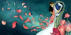"""Illustrazione fiaba """" Il Principe Pesce """" by Michela Molinari"""