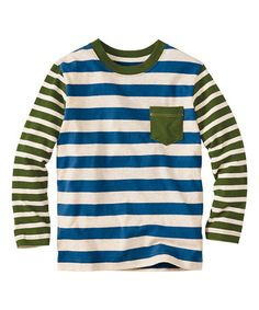 Look at this #zulilyfind! Storm Cloud & Oat Stripe Mix-a-Lot Tee - Infant, Kids & Tween #zulilyfinds