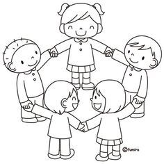 Preschool Coloring Pages, Colouring Pages, Coloring Pages For Kids, Coloring Books, Art Drawings For Kids, Drawing For Kids, Art For Kids, Preschool Friendship, Preschool Activities