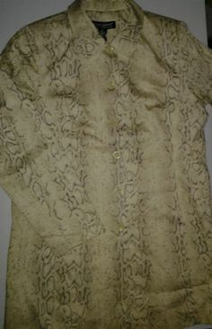 DIALOGUE Snake Skin Python Reptile Look Cream Long Lined Jacket Sz 12
