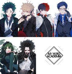 Boku no Hero Academia || AU [ Midoriya Izuku, Katsuki Bakugou, Tenya Iida, Tsuyu Asui, All Might. ]