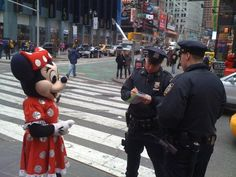 Minnie Mouse is getting arrested ;)
