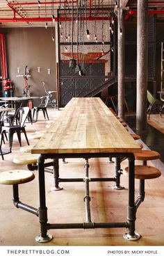 Kitchen Butchers Block Cape Town : Kitchen island, industrial butcher block style, reclaimed wood and the legs and frame are 1 ...