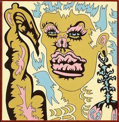 Karl Wirsum (b. Sep. 27, 1939):Lip Balm, 1966 - acrylic on canvas