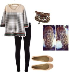 """Stripes"" by mhatfield on Polyvore"