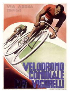 Vintage Italian cycling poster