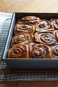 Fresh-baked goods in the morning don't have to require waking up before the crack of dawn. Get all the work done the night before with these cinnamon rolls.