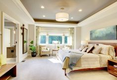 Craftsman-ceiling-lights-bedroom-traditional-with-recessed-light-light-blue-tray-ceiling.jpg 990×686 pixels