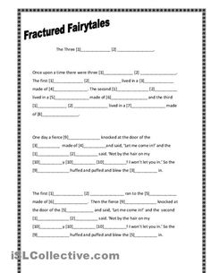 three little pigs writing template | Fractured Fairytales: Three Little Pigs worksheet - Free ESL printable ...
