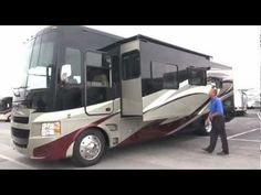 Tiffin 2013 Allegro Class A gas motorhome -- 30497 Frank Bailor. Like the floorplan - just need to put in a workstation! Tiffin Motorhomes, Recreational Vehicles, Rv, Floor Plans, Camping, Places, Design, Campsite, Motorhome