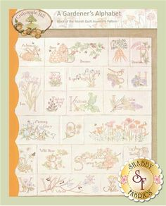 A Gardener's Alphabet Set of 12 Patterns by Crabapple Hill Studio