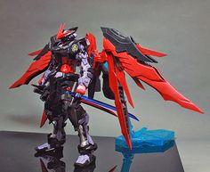 """MG 1/100 MBF-POX Gundam Astray Noir D """"Emperor"""" - Custom Build"""