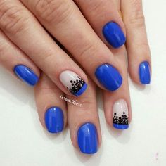 Cobalt blue with black details