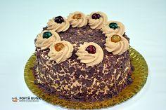Chocolate layered cake with coffee mascarpone cream Cacao Powder Benefits, Cacao Recipes, Love Chocolate, Birthday Cake, Sweets, Healthy Recipes, Cream, Desserts, Food