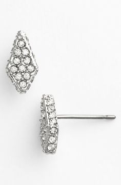 Crystal stud earrings for the next event.