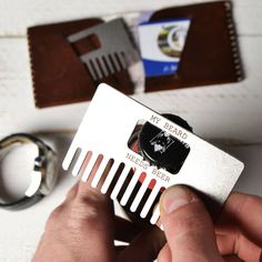 beard comb and bottle opener by man gun bear by made lovingly made | notonthehighstreet.com