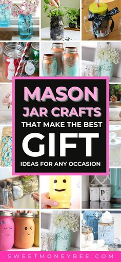 Uses For Mason Jars, Diy Jars, Mason Jar Gifts, Mason Jar Diy, Diy Bottle, Glass Bottle, Bottle Crafts, Glass Jars, Bottles