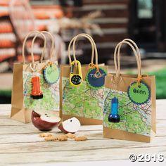 Camp Adventure Favor Bags Idea