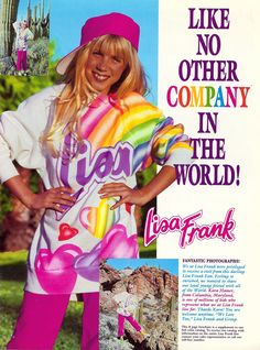 80's Lisa Frank! oh man my childhood! You were so not cool if you didn't have something Lisa Frank