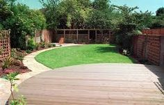 decking end of garden - Google Search