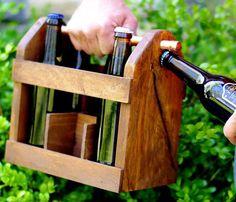 GENIUS - Rustic Six Pack Beer Caddy