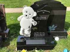Cemetery Headstones, Cemetery Art, Steven Collins, Sleep Teddies, Memorial Markers, Cemetery Monuments, Grave Decorations, Stone Statues, Angel Statues