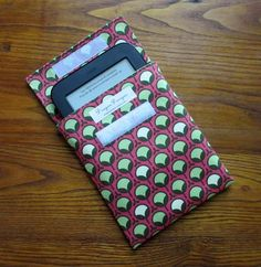 Nook Simple Touch, Nook Glow, Kindle, Kindle Paperwhite, sleeve, case, cover, pink apple buds fabric  by Joel Dewberry