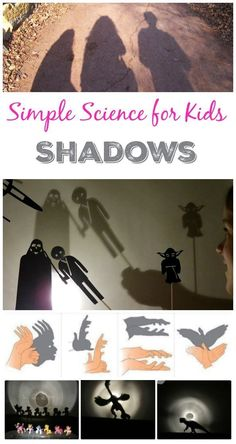 Kids will love these easy science experiments that explore shadows! I remember making hand puppets as a kid - awesome!