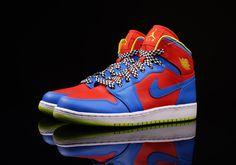 "Air Jordan 1 Retro High GS ""Chilling Red, Cyber & Photo Blue"""