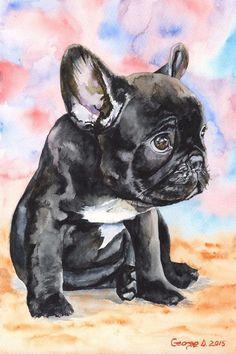 French Bulldog Puppy 2 #frenchbulldogpuppy #buldog #frenchbulldogszeichnung