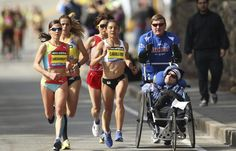 Team Hoyt Running the Boston Marathon 2013