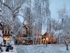 Winter Photography of the Bavarian Village