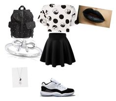 """""""Black And White"""" by classixx210 on Polyvore featuring Être Cécile, Concord, Herschel Supply Co., Kobelli and Full Tilt"""