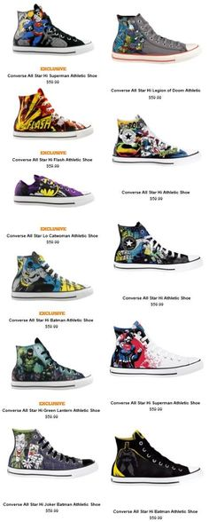 Exclusive Converse x DC Comics Kicks. Give me all of these. Please.