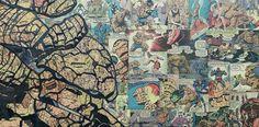 Une jolie série de collages deMike Alcantara,sur le thème des super héros, réalisés entièrement en utilisant des morceaux de papier découpés dans de