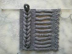 A fascinating picture tutorial on how to take the right and make it look like the left. All hand knit.