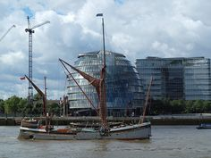 A traditional Thames sailing barge
