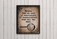 Instant download art print quote Sherlock quote by WordPrintables, $5.00