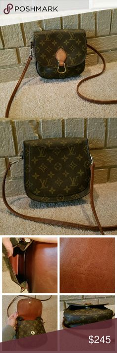 Louis Vuitton St Cloud Crossbody Bag 100% Authentic Guaranteed  If in Doubt i recommend caroldiva.cm Vintage-PRE-DATECODE made in heatstamp Excellent condition for Vintg. Strap broke,replaced with nonLV strap No molding/bad smells Pockets Clean View all pics & zoom n if needed Great bag for traveling or a night out!  Model is 5'7/165lbs-A great strap sz for her- wuld b even better for a smaller frame-comes to her hip as a crossbody/bottom of butt as shoulder bag Trade Val higher  PRICE…