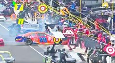 Country Music Lyrics - Quotes - Songs Nascar - NASCAR Driver Hits Crew Members During Horrifying Pit Stop - Youtube Music Videos https://countryrebel.com/blogs/videos/crew-members-ran-over-by-nascar-driver-in-horrifying-pit-stop