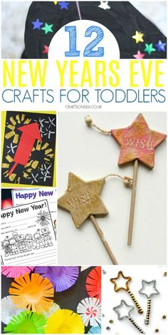 New Years Eve Crafts for Toddlers - Kate Williams CraftsonSea - - Jimmy Huish - art therapy activities New Year's Eve Activities, Art Therapy Activities, Infant Activities, Painting Activities, Winter Activities, Toddler Preschool, Toddler Crafts, Preschool Activities, New Year's Eve Crafts