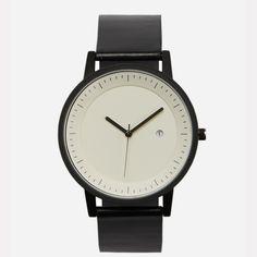 Simple Watch Company Black & White Earl Watch - Trouva