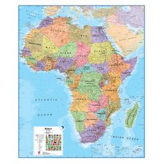 As per a request from 2 days ago ive created yet another tsl map africa 18 laminated wall map 39w x 47h in milafrica gumiabroncs Gallery
