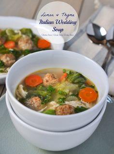 Lemon and Thyme Italian Wedding Soup | www.themodernbuttery.com